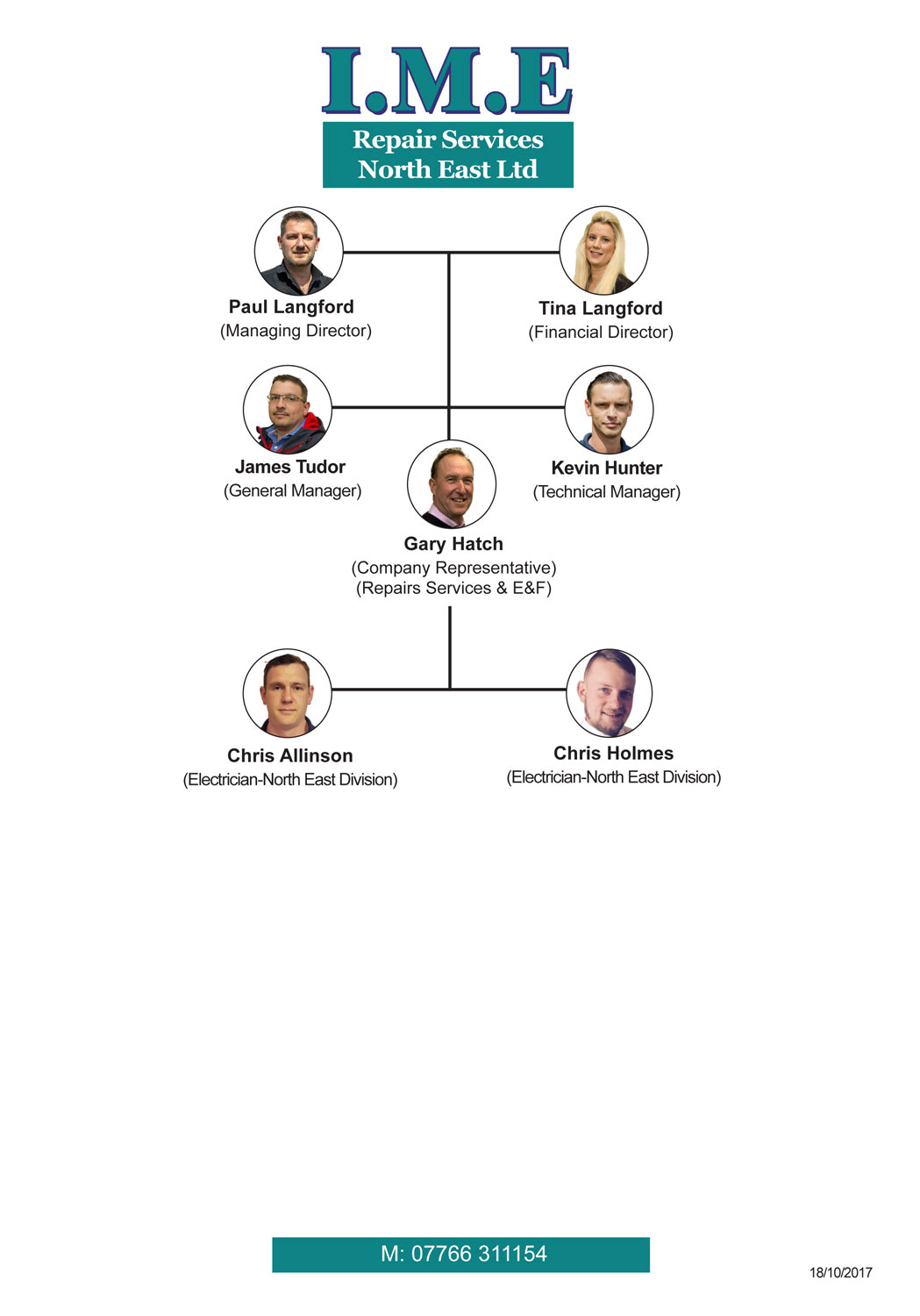 IME Repair Services North East staff structure